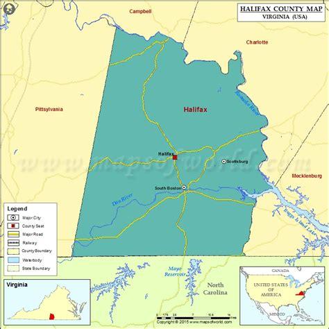 virginia map in usa halifax county map virginia
