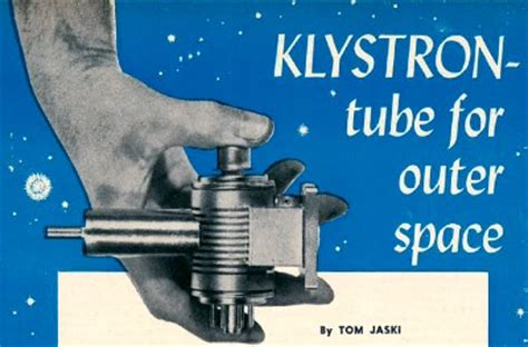 klystron tube  outer space february  radio electronics rf cafe