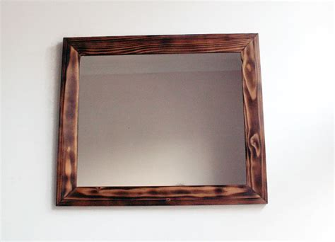 Handmade Wooden Mirrors - wall mirror wooden mirror handmade reclaimed wood frame