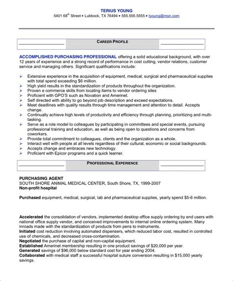 global procurement manager resume samples velvet jobs