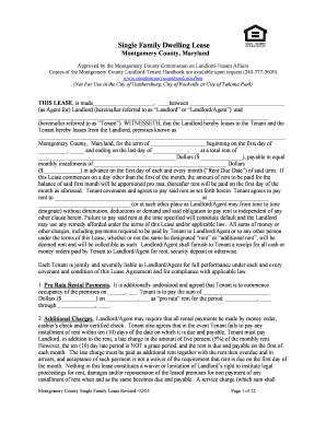 2005 Form Md Single Family Dwelling Lease Fill Online Printable Fillable Blank Pdffiller Md Lease Agreement Template