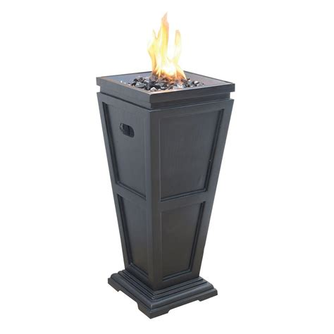 Uniflame Propane Gas Pit uniflame medium 11 25 in x 11 25 in propane gas pit glt1332sp the home depot