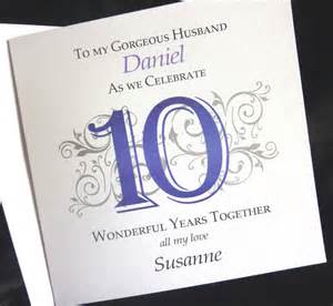 personalised 1st 2nd 5th 10th 25th 40th etc wedding anniversary card for husband ebay
