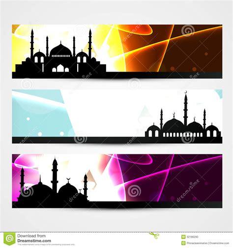 design banner ramadan ramadan and eid headers stock vector illustration of