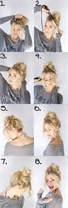 step by step hairstyles for hair with bangs and curls messy bun step by step pictures photos and images for