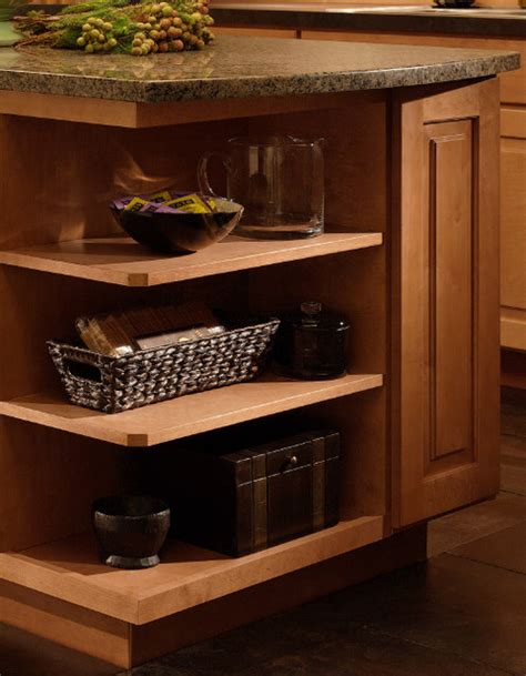 Kitchen Cabinet Shelves Base Wall End Shelves Cliqstudios Traditional