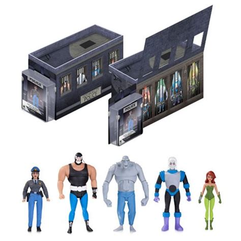 figure 5 pack batman the animated series light up gcpd rogues gallery