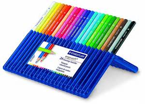 staedtler ergosoft pencils set of 24 colors in stand up