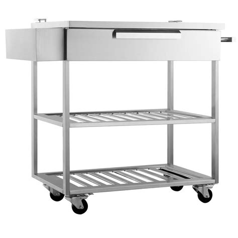 Kitchen Bar Cart by Newage Products Stainless Steel Classic 32x33 6x24 In