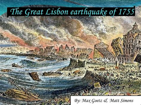 The Great 1 ppt the great lisbon earthquake of 1755 powerpoint