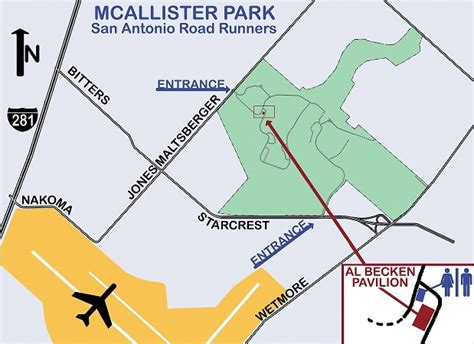 mcallister texas map mcallister park run map san antonio roadrunners