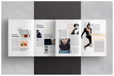 layout design magazine indesign magazine layout on behance