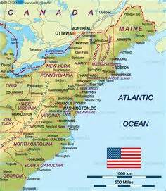 map of mid east coast usa 1000 images about trip to new fall 2013 on boston new and maine
