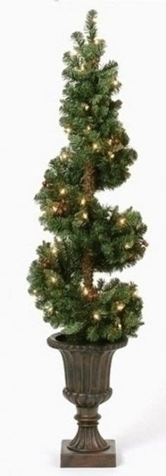 lighted spiral topiary tree topiaries christmas ornament and ornaments on pinterest