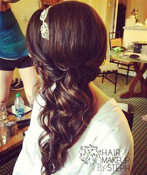 side curls hairstyles pinterest 95 best prom hair images on pinterest wedding hair
