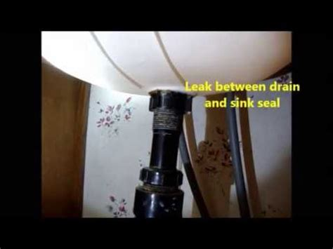 sink drain leaking rubber bathroom sink to drain seal leak youtube