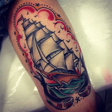 traditional nautical tattoos traditional ship tattoos designs ideas and meaning
