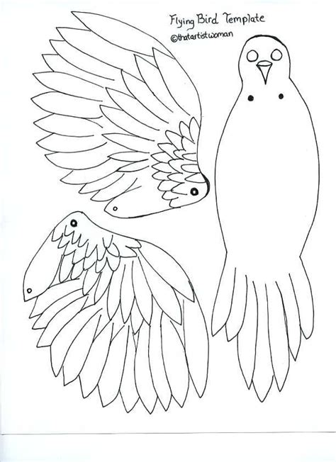 Paper Bird Craft Template - pin by robin standlea on paper dolls
