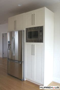 built  microwave cabinet      home