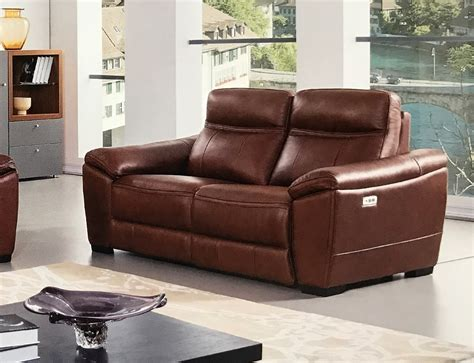 brown leather reclining sofa forma full italian brown leather power recliner loveseat