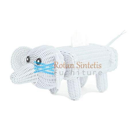 Kursi Elephant tissue elephant rotan rotan sintetis furniture