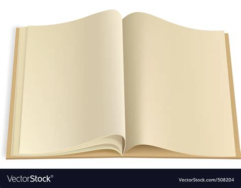 blank book template for blank book pages template royalty free vector image