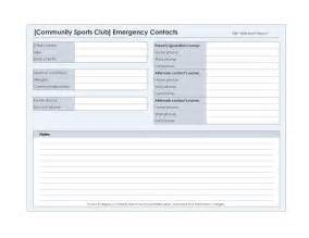 emergency contact list template best photos of directory for a contact form emergency