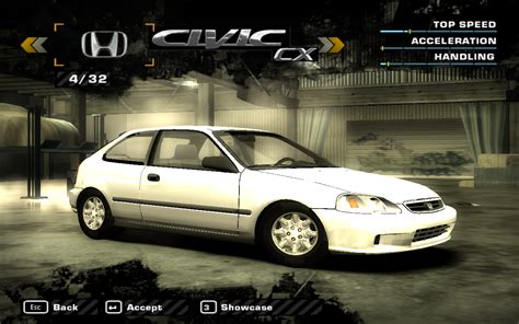 nfs most wanted wagen need for speed most wanted honda civic cx nfscars
