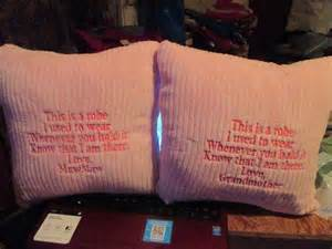 memory pillows made from shirts robes or any clothing of