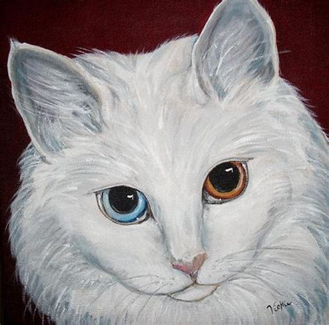 painting for cats white cat