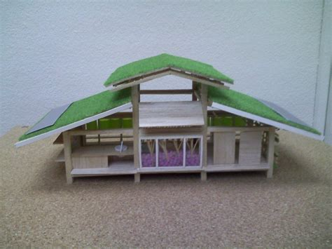 green design house green roof design ideas in miniature house design