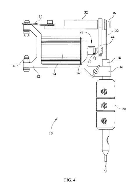 tattoo machine patent patent us8522647 eccentric gear for tattoo machine for