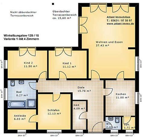 wohnung 65 m2 grundriss 1000 ideen zu winkelbungalow grundriss auf