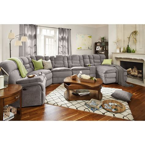 furniture pieces for living room big softie ii 6 pc power reclining sectional value city furniture