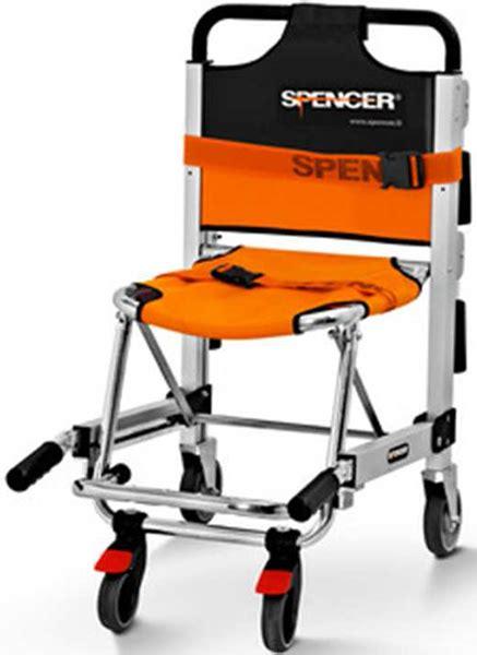 sedia scendiscale sedia portantina da evacuazione a 4 ruote spencer 455