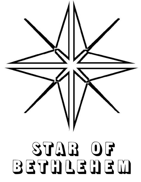 coloring page of the christmas star free printable star coloring pages for kids