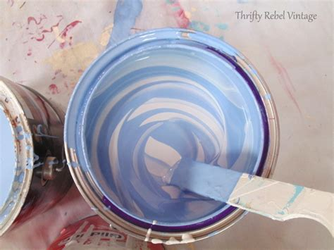 how to mix your own paint and save money thrifty rebel vintage