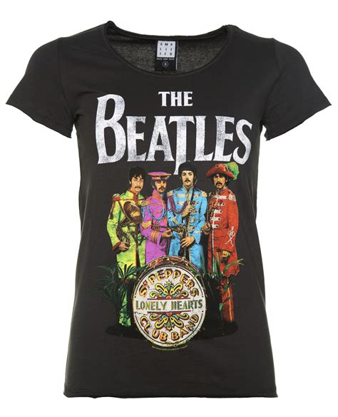 Blacklabel The Beatles Rock Bands T Shirt Bl Thebeatles018 Xl s charcoal the beatles sgt pepper s t shirt from lified