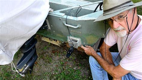 jon boat fish finder mounting a fish finder depth finder sensor on boat