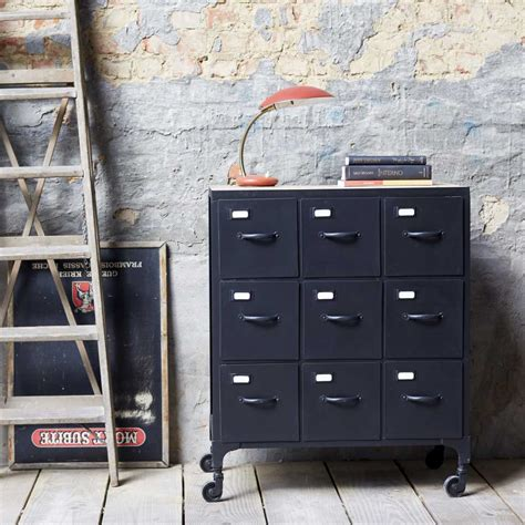 metal chest of drawers industrial style chest of 9
