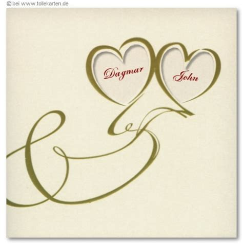 Einladung Hochzeit Herz by Herz Einladungskarten