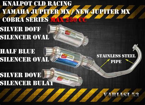 Knalpot I One Racing Pelangi Jupiter Mx New Murah toko variasi 53 aksesoris motor variasi motor