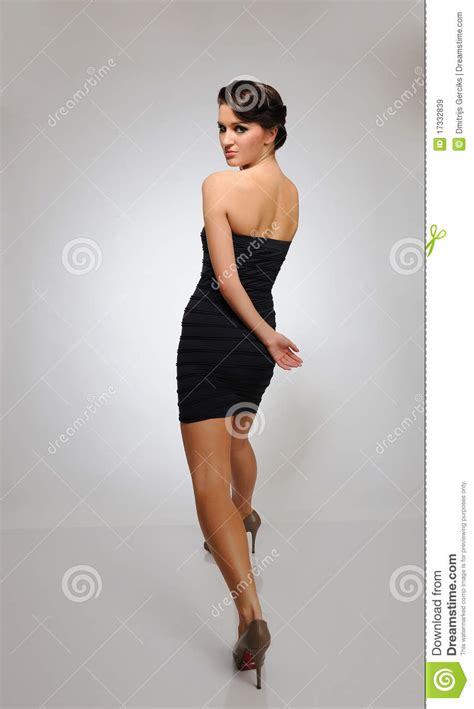 beautiful fashion model walking   catwalk stock image