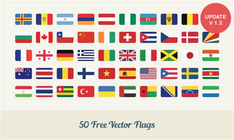 Flags Of The World X Plane Download | free download 50 flat vector flags dreamstale