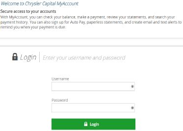 My Chrysler Account by My Chryslercapital Sign Up For Auto Pay Login To
