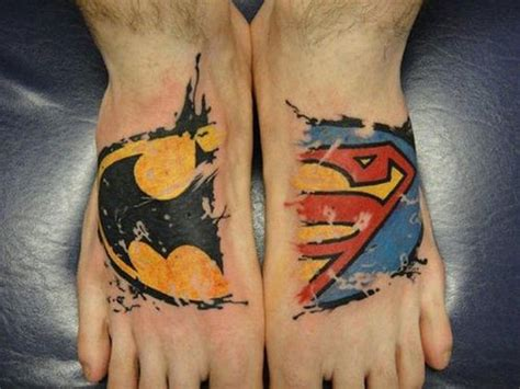 superman tattoo designs for men foot tattoos for design ideas for guys