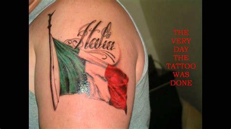 italian tattoos for men my italian flag