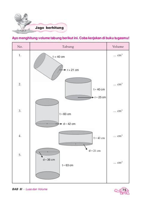 Tabung Dengan Ukuran Diameter 7 Tinggi 21 pandai berhitung matematika untuk sekolah dasar madrasah