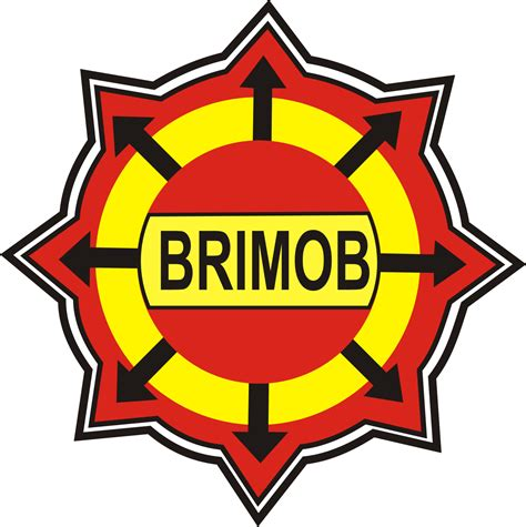 gambar brimob logo brigade mobil brimob lambang polri logo