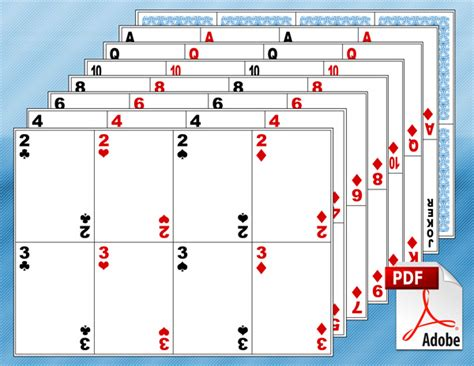 printable giant deck of cards 10 free printable math centers blank playing cards math
